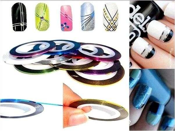 Аксессуары для ногтей LOVELY лента для дизайна самоклеющаяся