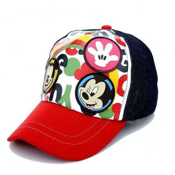 Бейсболка AliExpress New cartoon lovely beautiful children children summer cool sun hat mickey Snapback outdoor sports loose-fitting cap Gorras 2 - 7 years