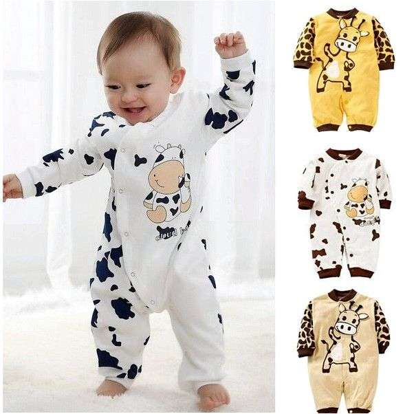 Боди Aliexpress Cute Boys Girls Baby Organic Fox Romper Jumpsuit Playsuit Onesie Outfits Clothes
