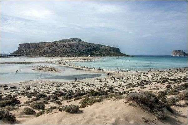 Бухта Балос на острове Крит. Слияние трех морей (Киссамос, Греция)