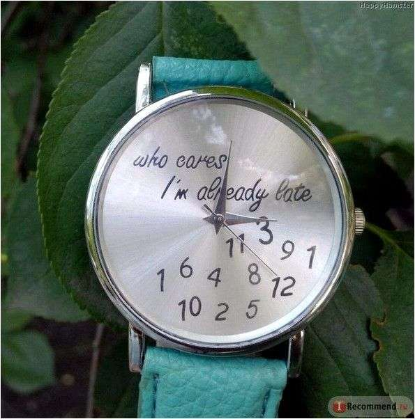 Часы женские Aliexpress 2015 Who Cares I'm Already Late Irregular Figure High Quality clock Women Wristwatch Fashion geneva Watches Quartz Watch Relogio