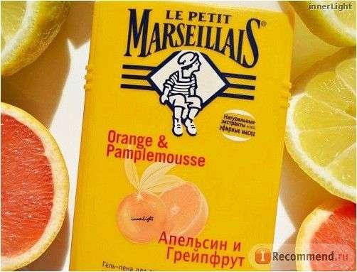 Гель-пена для душа Le Petit Marseillais Апельсин и Грейпфрут