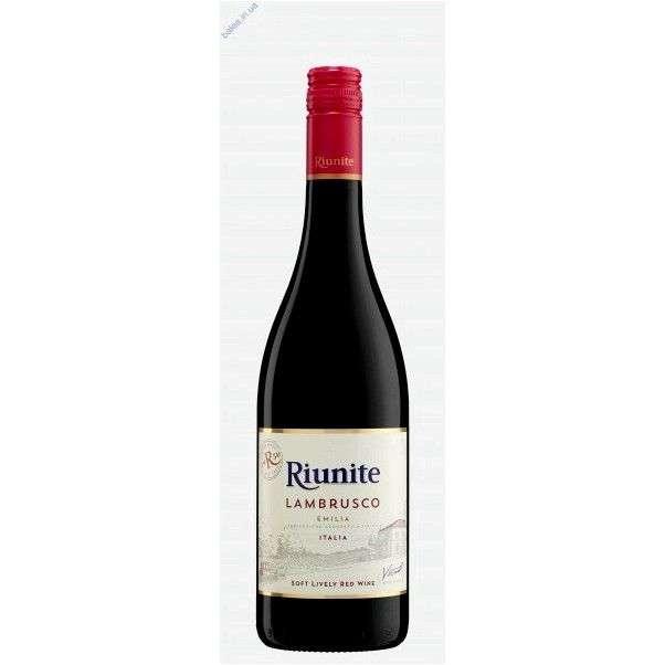 Игристое вино Lambrusco Riunite Emilia (красное, полусладкое, игристое)