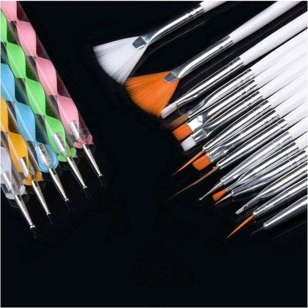 Кисти для дизайна ногтей Aliexpress 1Set/3PCS Soft and Professional Pen UV Gel Drawing Painting Nail Art Brushes Manicure Nail Tools Free Shipping