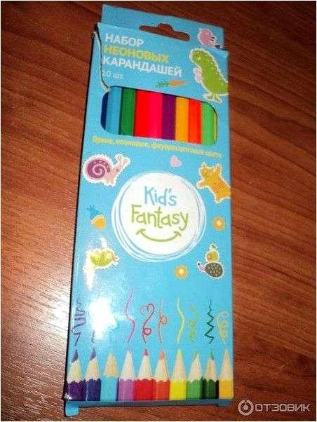 Набор неоновых карандашей Kids Fantasy