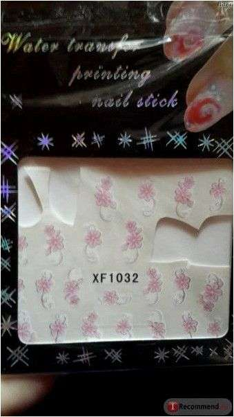 Наклейки для ногтей Aliexpress 11 Designs Flower & Butterfly Nail Art Decals Wrap Stickers Water Transfer False With Gold Bling Shipping