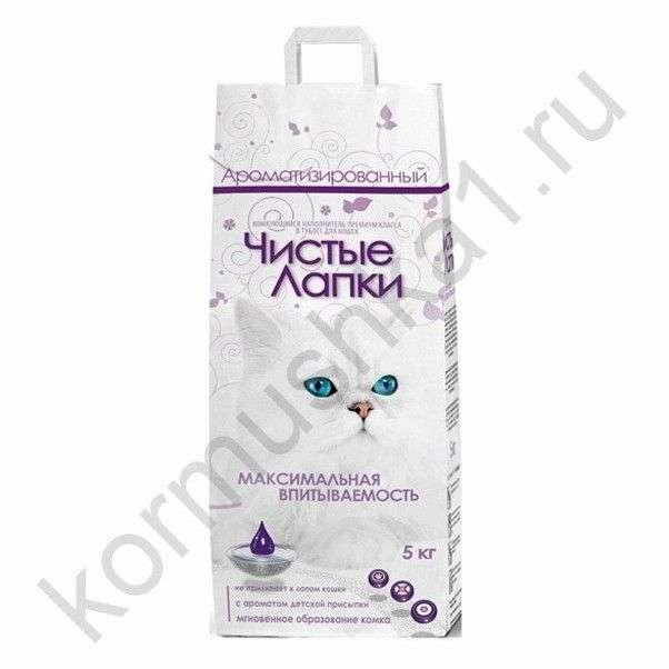 Наполнитель для кошачьего туалета Любимец комкующийся гигиенический на основе природной глины