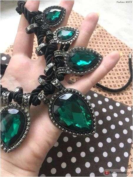Ожерелье Aliexpress Hand made green crystal neckalce rope water drop chunky chocker necklace women fashion jewelry