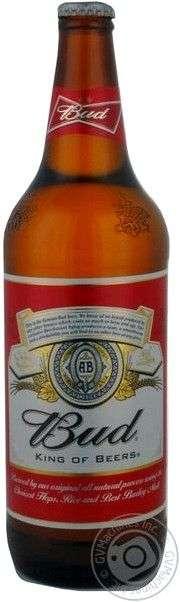 Пиво BUD светлое пастеризованное
