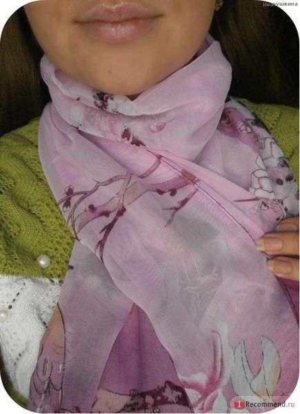 Шарф Aliexpress Free Shipping 2014 New Arrive Women Beautiful Flower Print Oil Painting Long Silk Scarf Women Shawls Birthday Gift
