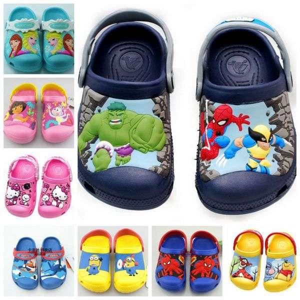 Шлепанцы Aliexpress 2015 New Wholesale Garden Shoes Boys and Girls Cartoon Sandals Children Summer Slippers Babies Sandals,Size:20-30