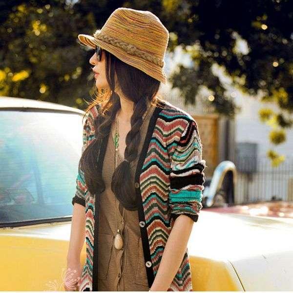 Шляпа Aliexpress Fashion Women Sun Hat Straw Hat Wide Large Brim Summer Beach Cap with Leopard Ribbon