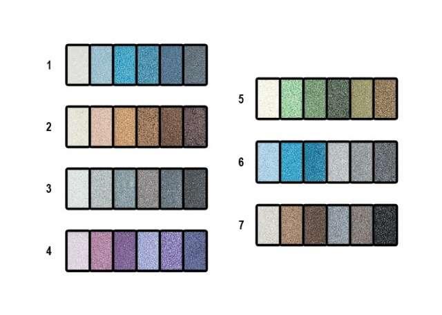 Тени для век Lorina L-EYG-036 Набор теней с кристаллами 36 цветов