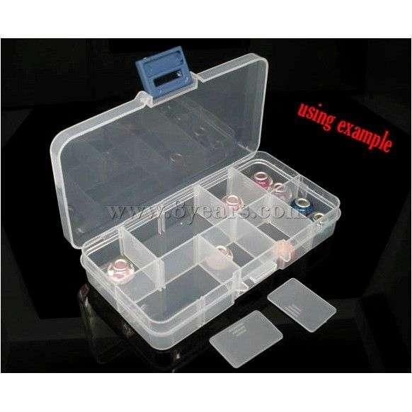 Бокс коробка шкатулка для бусин aliexpress Clear Beads Display Storage Case Box 13x7x2.3cm