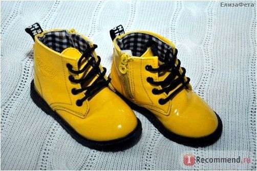 Ботинки Aliexpress Free shipping,Children shoes bright japanned leather female child martin boots,male child leather fashion boots