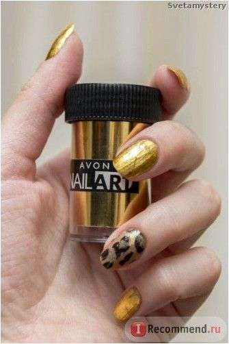 Фольга для дизайна ногтей Avon Nail Art