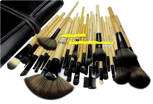 Кисти для макияжа Aliexpress Stock Clearance !!! 32Pcs Print Logo Makeup Brushes Professional Cosmetic Make Up Brush Set The Best Quality!