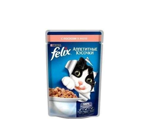 Корм для кошек FELIX консервированный с говядиной в желе