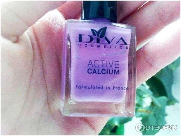 Лак для ногтей Diva cosmetics Active calcium