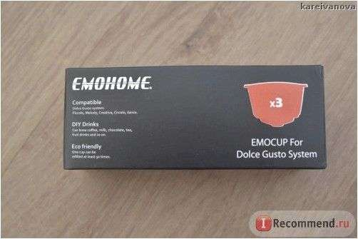 Многоразовые капсулы для кофемашин Dolce Gusto Emohome CAPSULES RECHARGEABLE REFILLABLE REUSABLE COFFEE