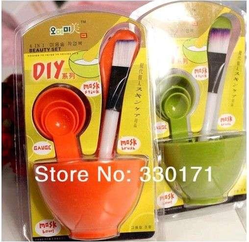 Набор для приготовления и нанесения масок BornPrettyStore 4 in 1 DIY Facial mask mixing bowl brush spatulas spoon (product ID # 713)