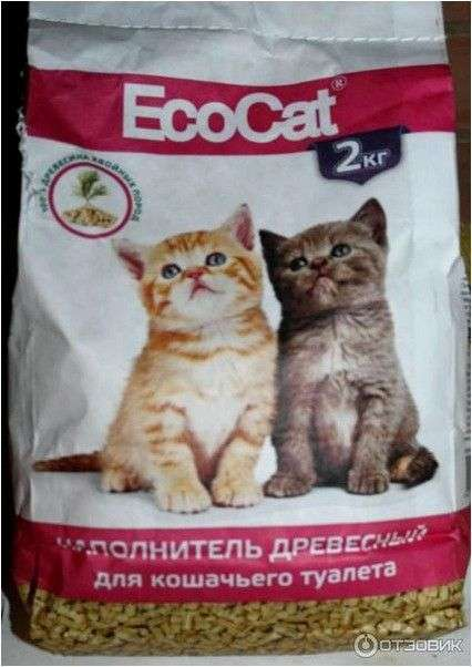 Наполнитель для кошачьего туалета EcoCat Древесные гранулы