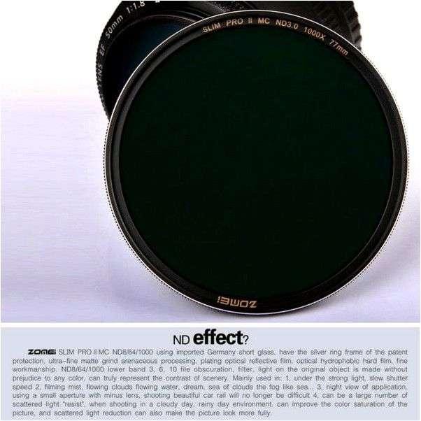 Объектив Aliexpress Zomei Digital HMC UV(C) Slim Frame filter Multi-coated lens filters MCUV