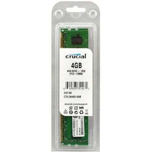 Оперативная память Crucial CT51264BA(D)160BJ DDR3 - 4Гб