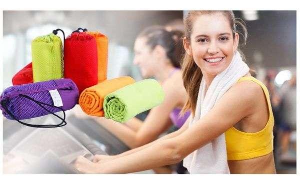 Полотенце Aliexpress Sports Towel With Bag 70x130cm Larger Size Microfiber toalha de esportes Swimming Travel Gym Towel