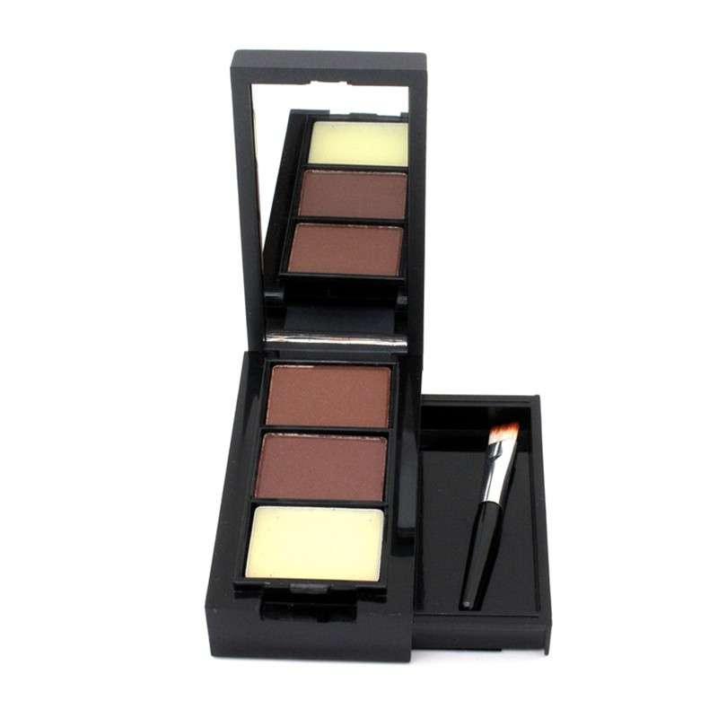 Тени для бровей Aliexpress 2015 Hot sale professional eyeshadow eye brow makeup waterproof 4 color eyebrow powder + double end brush make up palette set