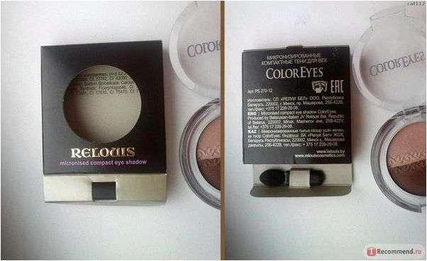 Тени для век Relouis / Релуи Микронизированные компактные тени для век ColorEyes