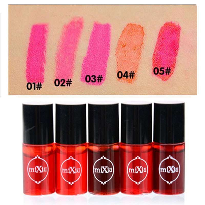 Тинт для губ Aliexpress 2015 Mixiu Multifunction Lip Tint Dyeing Liquid Lipgloss & Blusher Waterproof Lip Gloss Makeup Beauty Cosmetics Lips